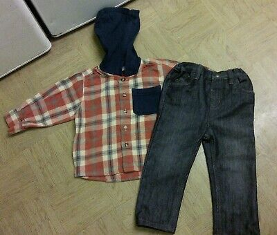 Boys Brand New Rebel Jeans Age 2/3 Years & Boys Next Hooded Shirt Age 2 Years