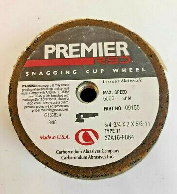 KASCO 4//3 X 2 X 5//8-11 Flared Cup-Standard Back Grinding Wheel lot of 2