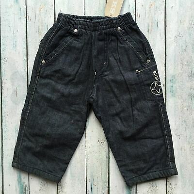 NWT - Made in France IKKS Lined Pull on Boys Jeans - Size 12M