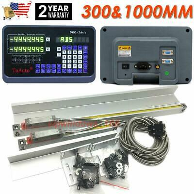 """12"""" 40"""" TTL Linear Scale 2Axis Digital Readout DRO Display Kit Milling Lathe"""