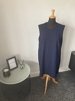 Details about  /Topshop Maternity Blue Relaxed Tunic Smock Tea Dress 12 M BNWT £55