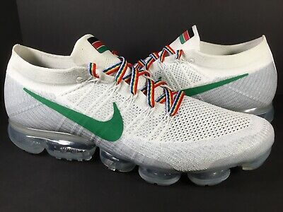 Nike Air Vapormax ID Flyknit White Pure Platinum Grey Green Red Men Size 15 Rare