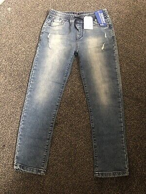 Skinny Jersey Denim Stretch Jeans Age 9 Years Boys Elasticated Next Jogger Style