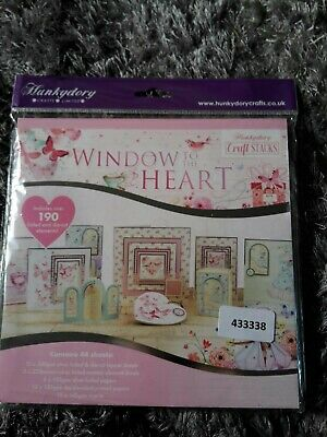 Love /& Best Wishes Topper Set Card Kit SSW903 HunkyDory Crafts Window to the Heart