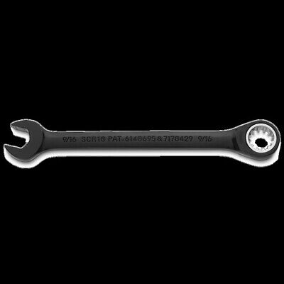 Stanley JSCR18 Proto Black Chrome Combination Non-Reversible Ratcheting Wrench