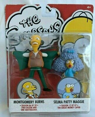 The Simpsons Mr Montgomery Burns keyring with red NEW yellow label