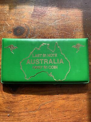 AUSTRALIA - Last $1 Note and First $1 Coin in a Display Folder - 1984 -