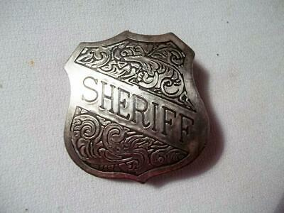 SHERIFF SHIELD POLICE BADGE OLD WEST WESTERN LAWMAN