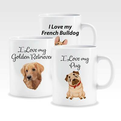 Dog Mug 5 Assorted Breeds Tea Coffee Hot Chocolate All you Need Is Love /& Dog