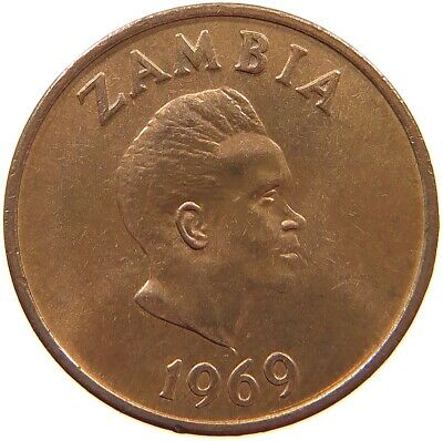 ZAMBIA 1 NGWEE 1969 TOP #s62 413