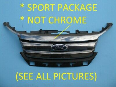 2010 2011 2012 Ford Fusion Sport Front Bumper Upper Top Grille Used Oem 10 11 12