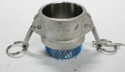 """(7) Type B Cam and Groove Fitting 316 Stainless Steel 2"""" B-200"""