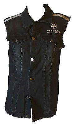 Jacket Vest Jacket Sleeveless Shirt Denim Jeans Woman Black ZOO YORK S