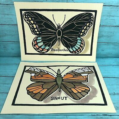 Hand Painted BUTTERFLY//BUTTERFLIES Toilet Paper Holder//Canister