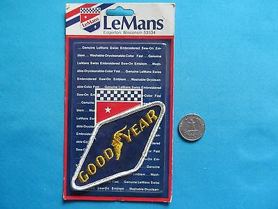 * *1 Vintage 70S Rare Lemans Goodyear Good-Year Racing Tire Patch Crest Mip **