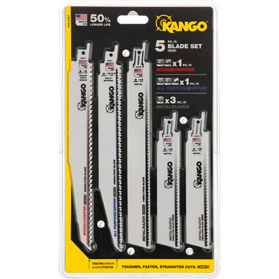 Kango - 5 Piece Reciprocating Saw Blades Set - High quality - New