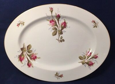 Vintage Rosenthall Hillside Large Oval Serving Platter Pink Center Rose with Small Flowers Gold Rim Germany Panchosporch