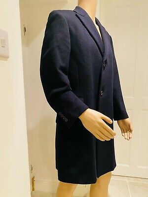 Mens 42r Austin Reed Blue 60 Wool Coat 25 99 Picclick Uk