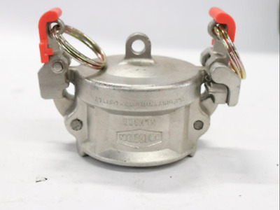 """Dixon 2"""" 316 SS Safety EZ Boss-Lock Ventlock Type H Cam and Groove Dust Cap"""