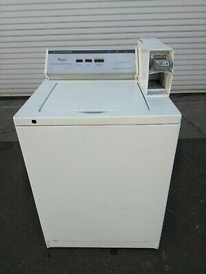 Washer Top Load Coin Box MeterCase Housing SPEED QUEEN Coin Drop White Used