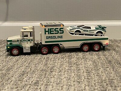 1988 HESS TOY TRUCK & RACER Car Vintage Collectible