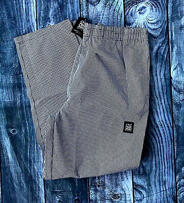 """NWT Chef Revival 2X XXL 44"""" 46"""" Pants Houndstooth Black White Baggy Restaurant"""