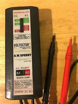 AW Sperry Voltector V-11A Voltage Tester AC DC 120-600Volts