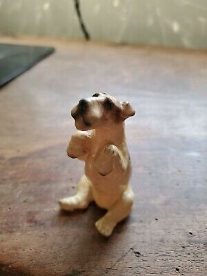 RARE Mortens Studio Dog Wire Haired Fox Terrier Dog Sitting Up none on Ebay!