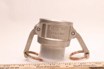 """Dixon Andrews Stainless Cam & Groove Type B 1 1/2"""" Coupler -150-B"""