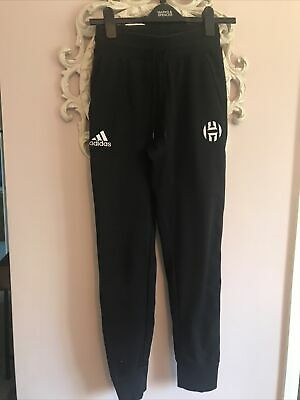 Boys/mens Adidas Black Slim Tracksuit Bottoms Size XS