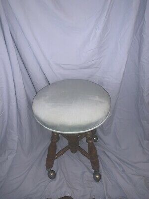 Antique Charles Parker Co Adjustable Piano Stool