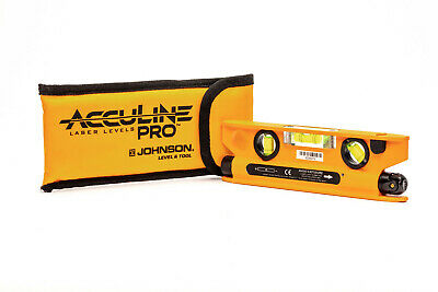 Acculine Magnetic Pro 40-6164 Torpedo Laser Level w/ Carrying Pouch