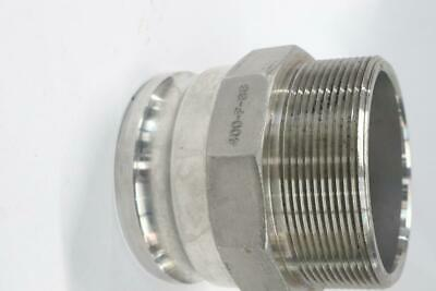 """Dixon Boss-Lock Cam & Groove Type F Adapter x Male NPT Stainless Steel 4"""""""