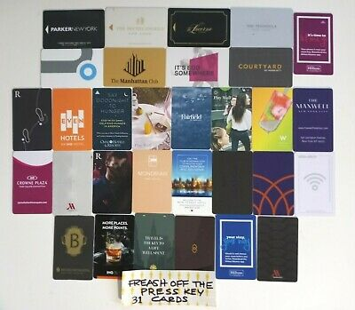 FREASH OFF THE PRESS HOTEL KEY CARDS  31 Different cards