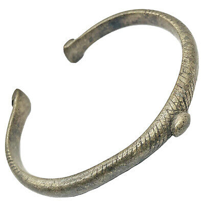 Old Mali African Bracelet Money Currency Metal Detector Find Artifact Jewelry