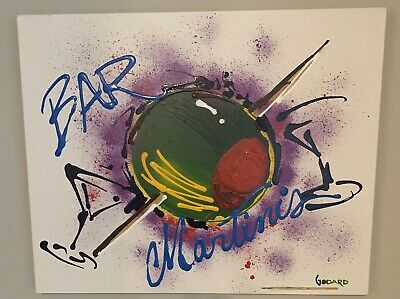 Michael Godard ORIGINAL Olive With Toothpick Martini Painting 30 X 24  $8,595