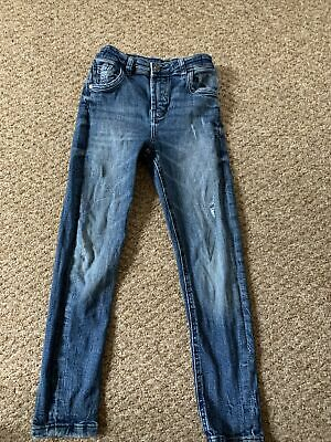 Boys Blue Wash Skinny Jeans From George 7-8 Years With Adjustable Waist