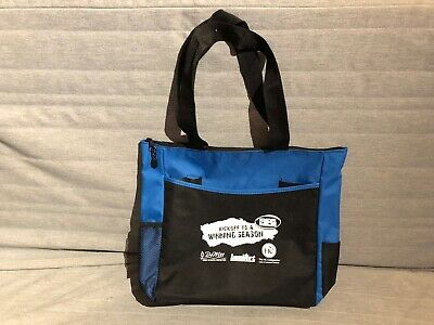 Promotional Zippered Fabric Tote from Trade Show.  NEW.   Lightweight