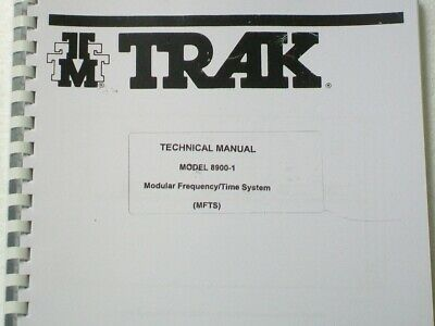 TRAK SYSTEMS 8900 GPS controlled oscillator frequency standard MANUAL COPY