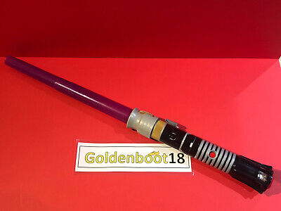 Star Wars Mace Windu Purple Extendable Lightsaber Disney Lfl Lights & Sound