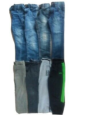 Boys Age 5 Bundle Jeans/Trousers/Joggers 8 Pairs Next, TU, BHS