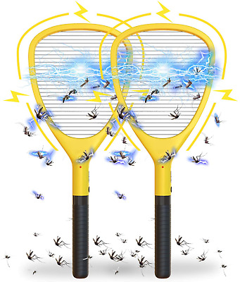 Wanqueen 2 Pack Large Electric Swatter Trap Bug Racket Mosquito, Killer High Vol