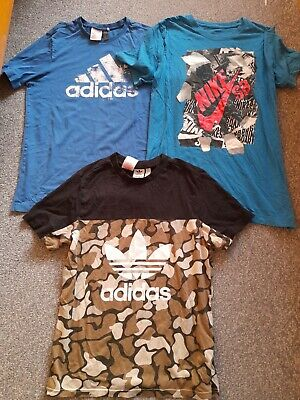 Nike , Adidas 3 Piece Boys Summer T Shirt Clothing Bundle Age 13 -14 Years