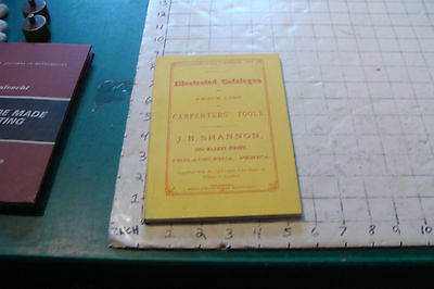 REPRODUCTION--illustrated catalog of Carpenters' Tools--J B SHANNON 1873- REPRO