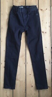 Boys Next Black skinny/slim fit zip up jeans age 13 years