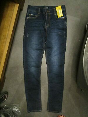 boys boy dark blue denim jeans super skinny next age 13 years new with tags