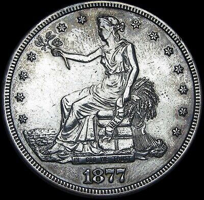 1877-S Trade Dollar Silver   ---- Nice Type Coin  ---- #L405
