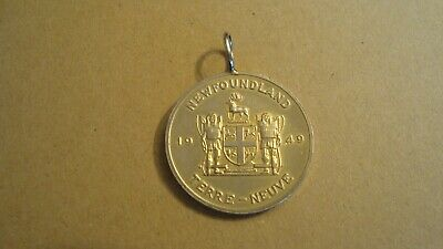Coat of Arms Medal with Provincial Flower 1867 New Brunswick CANADA