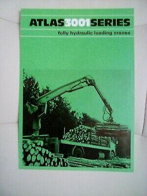 Atlas 3001 Series Fully Hydraulic Lorry Crane Brochure 1970