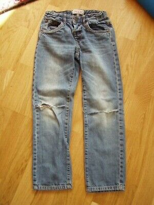 * Coole blaue Jeans C&A used look Gr. 128 - Jungs *